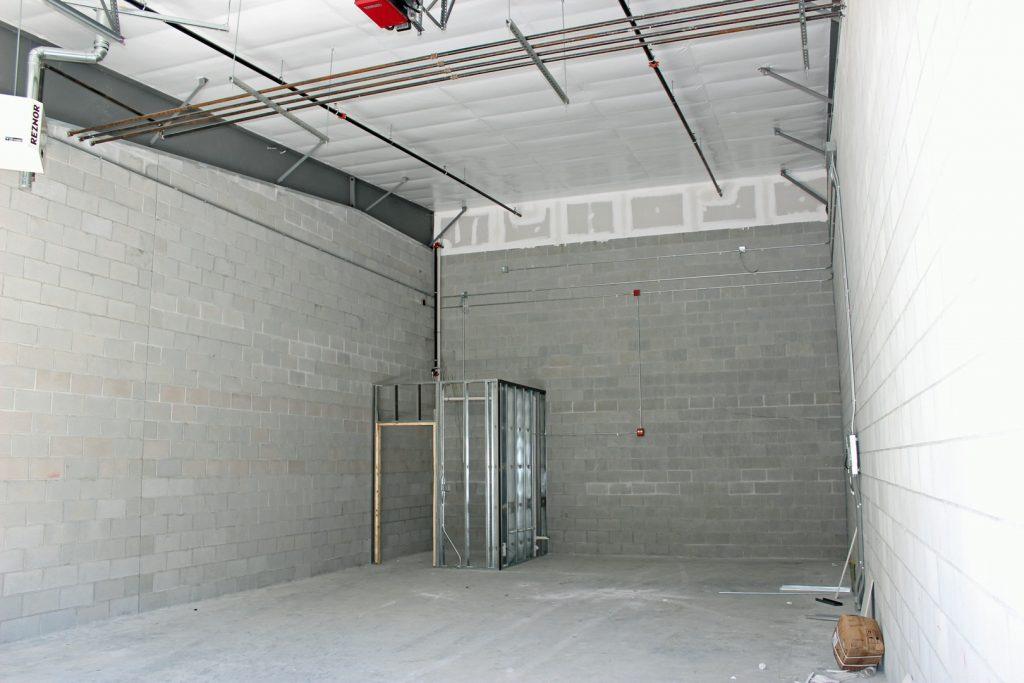 Interior with bath framed
